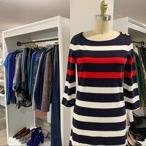 Land's End • Striped Sailor T-Shirt Dress